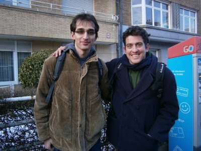 Izidor and Lionel at FOSDEM 2012