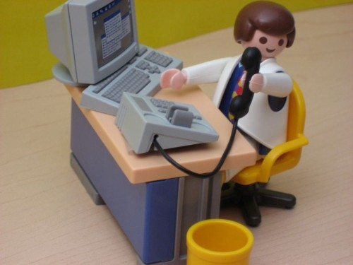 Playmobil desk and office